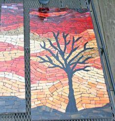 turtle mosaics | Textured Turtle: Mosaic Cabinet doors
