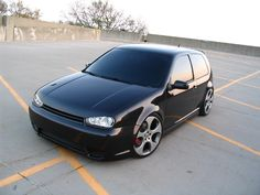 Stunning Black VW GTI Mk4 angry face!