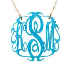 Www.poshpaperboutique.com under monogram necklaces.  This style shown is 68$.  Please repin Thank you