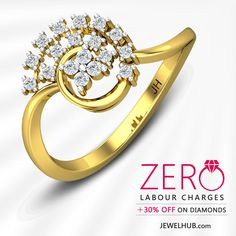 JEWEL HUB -  ZERO LABOUR CHARGES + 30% OFF ON DIAMONDS http://www.jewelhub.com/diamond-rings.html