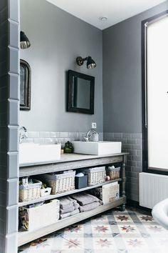 Idée décoration Salle de bain Carrelage métro et carreaux de ...