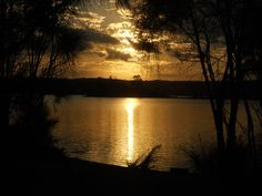 Sunset at Wallaga Lake in NSW/Australia