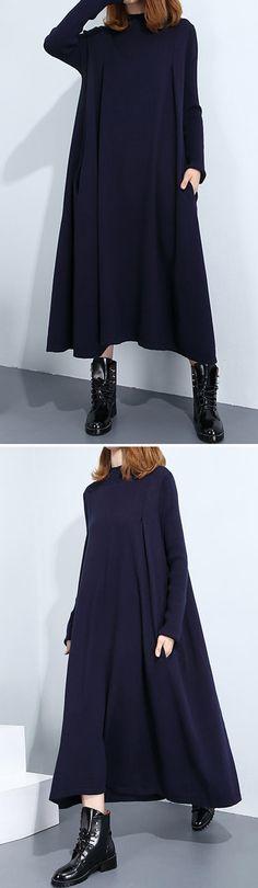 US$ 28.68 O-Newe Elegant Warm Knit Casual Maxi Dress For Women
