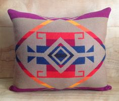Wool Pillow  Pendleton Wool Fabric  Native by RobinCottage on Etsy, $62.00