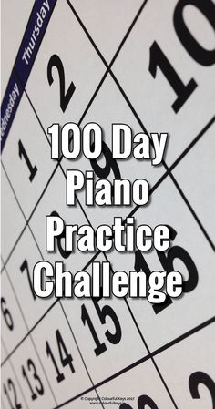 100 days in a row of piano practice