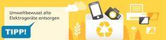 Elektrogeräte entsorgen via Deutsche Post Bar Chart, Deutsch, Good Times, Social Media, Tips, Bar Graphs