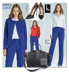 """""""A day at the office"""" by look-shop ❤ liked on Polyvore featuring Alexander McQueen"""