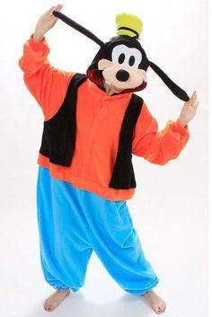Anime Animal Goofy Adult Unisex Women Men Oneise Kigurumi Pajamas Costumes for Halloween Polar Fleece Jumpsuit Plus Size  $29.99