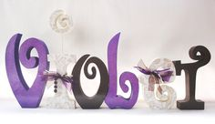 Baby Girl Wood Letters Custom for your decor set by thepatternbag