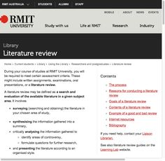 Best Academic Writing For Beginners Images  Academic Writing  Literature Review  Rmit University  This Site Offers Example Reviews Also