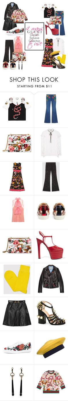 """""""Presenting the Gucci Garden Exclusive Collection: Contest Entry"""" by iasnitorh ❤ liked on Polyvore featuring Gucci, Democratique, Donna Karan and gucci"""