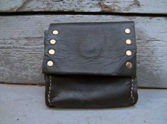 Black Horsehide Wallet by DandelionLeather