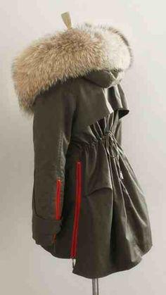 Raccoon Fur Collar Parka Jacket – Poppy London