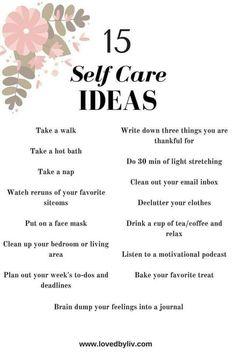 15 self care ideas