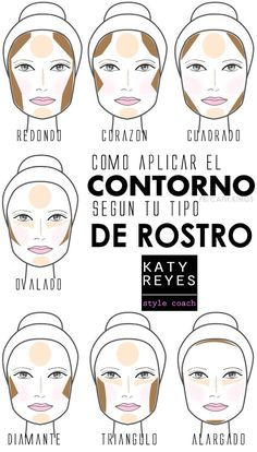 contorno para os formatos de rosto oval redondo longo diamante triangulo iluminador etc. Face Contouring, Contouring And Highlighting, Contour Makeup, Skin Makeup, Beauty Make-up, Make Beauty, Beauty Hacks, Love Makeup, Makeup Art
