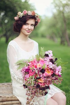 wildflower bouquet ideas from Blush Petal see more http://www.weddingchicks.com/2013/08/16/bohemian-bridal-ideas/