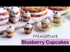 Miniature Polymer Clay Blueberry Cupcakes Tutorial // Maive Ferrando - YouTube