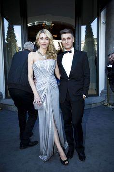 Arkitekt og tv-vært Eva Larlou med sin mand musikeren Thomas Troelsen.  Eva var nomineret som Årets kvindelige TV-vært, men det blev Ibi Støving, der løb med prisen.