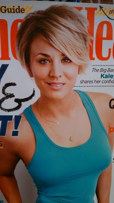 Kaley Cuoco blonde ombre crop with volume