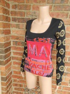 New CUSTO BARCELONA TOP Size 3 or M Chester Mavache Shirt 100% Cotton #CustoBarcelona #KnitTop #Casual