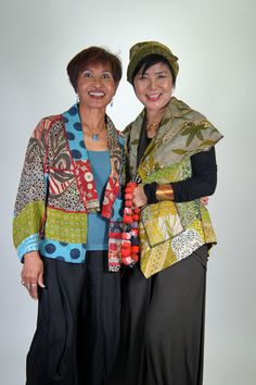 MIEKO MINTZ - Women's Beautiful Clothing and Accessories. Shape of jacket on left would be good to use for my kantha quilt sari.