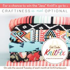 """The first Girl Charlee KnitFix sale is December 9!  Read what Jess from Craftiness is not Optional has to say about hers and enter to win your own """"Jess"""" KnitFix bag! ::"""