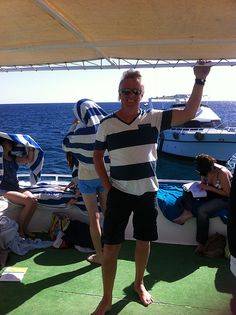 looks to be enjoying his first boat trip in #Egypt don't you think? Even if he is holding on :-D