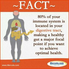 80% of your immune system is located in your digestive tract.