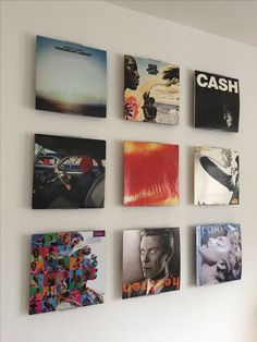 album covers as wall art via realsimple