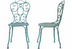 Cadeiras de ferro francesas para jardim...