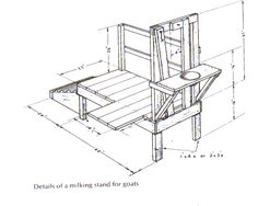 Goat Milking Stand Plans | building a new milkstand - The Goat Spot - Goat Forum