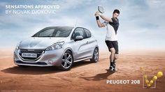 NOVAK DJOKOVIC - PEUGEOT 208 Peugeot, Envy, Bmw, Activities, Grande, Jealousy