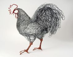 British artist Celia Smith's wire bird sculptures are meant to emphasize their real life vitality and energy.