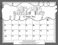 2013-2014 B Calendar