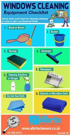 Windows Cleaning Equipment Checklist