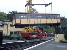 The #Snowdon #Lily being lifted off the track and taken to #Garmendale in Derby
