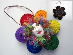 The Circle Game  OOAK Mountain Dolls Ornament by MountainDolls, $20.00