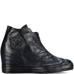 e02e39a66ed Converse - Chuck Taylor All Star Lux Wedge Shroud - Black - Mid Converse  Wedges,