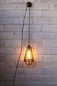 hanging pendant light from hook cord with edison bulb u2026