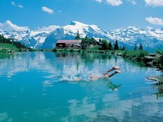 Little lake at Brunni, Engelberg. In the background you can see Mount Titlis.