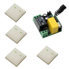 AC 220V Wireless Remote Control Switch Lamp Light LED Bulb Switch 1CH Mini Size 10A Relay Receiver Wall Transmitter 315/433Mhz