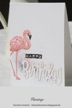 Good Cost-Free flamingo bird inspiration Tips : Flamingos are usually large wild birds that happen to be identifiable by way of their particular prolonged necks, sticklike hip and legs and lilac and. Flamingo Happy Birthday, Happy Birthday Gorgeous, Flamingo Bird, Flamingo Party, Paper Cards, Diy Paper, Tumblr Birthday, Karten Diy, Free Gift Cards