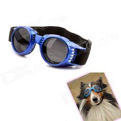 Hateli Pet-24-B Headband Regulated Pet Dog Outdoor Eye Protection Goggles Glasses - Blue - US$ 5.47 - 03/05/2014 - deal-dx