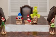 Elf on the Shelf Idea - Sack Race