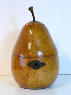 Tea Caddy in the shape of a Pear.
