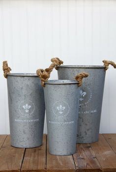 Cute Tin Buckets For Your Home From Tai Pan Trading Homedecor