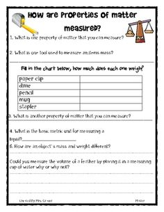 Matter activities for the classroom