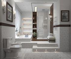 salles de bains modernes avec spa like appel ides dco pour maison moderne - Modele Grande Salle De Bains Avec Spa