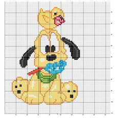 Schema punto croce Pluto