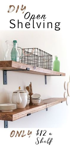 Hello! I hope you had a great Easter!! I'm back this week with my good friend, Aubrey, sharing a recent DIY she tackled in her new home–open shelves! Having open shelving in your kitchen has become all the rage in home design as of late! Sarah Richardson via HGTV It's a great way …